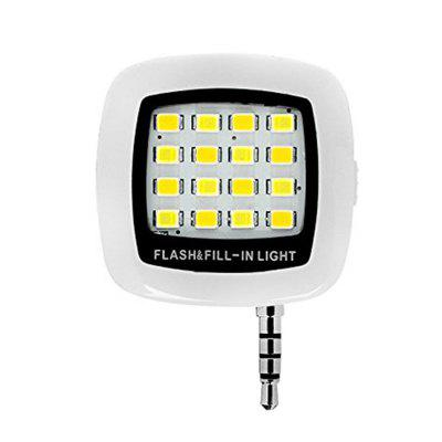 16 LEDs Portable Mini Flash Fill Light Oplaadbaar voor Smartphone iPhone Samsung Xiaomi HTC + Camera Video