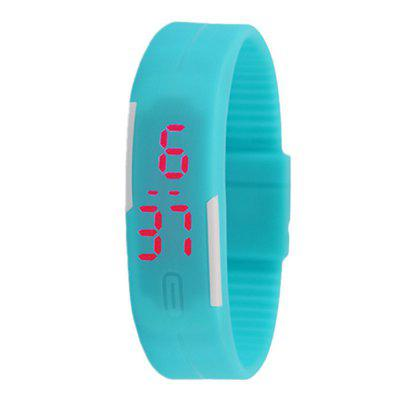 Silicone Rubber Gel Jelly LED Polshorloge Armband Heren Dames