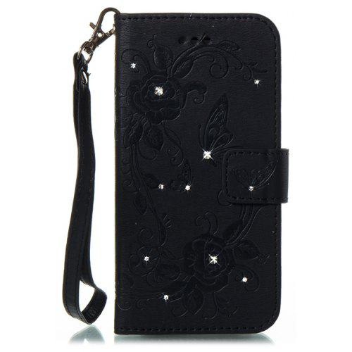 info for f0a09 8a2aa Butterfly and Flower Leather Case Cover with Water Drill for iPhone X