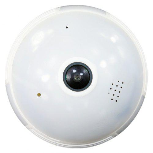 960P HD Bulb Light Wireless IP Camera WiFI FishEye 360 Degree