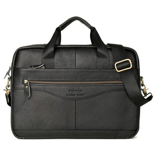 FONMOR Men Genuine Leather Business Briefcase Laptop Bag Handbag