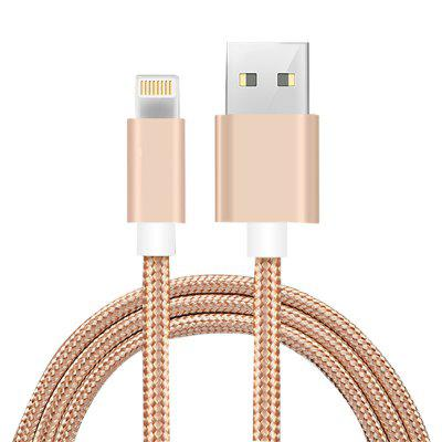 Cable de datos de carga USB de 2 m para iPhone 7/7 Plus / 6S / 6 Plus / 5 / 5S