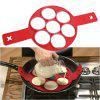 Perfect Nonstick Egg Ring Maker Easy Silicone Egg Pancake Mold Kitchen Tools - RED