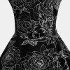 The Waist Shows Thin Big Print Dress - BLACK