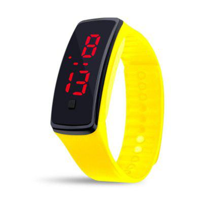 Unisex Rubber LED Watch Date Sportarmband Digitaal polshorloge
