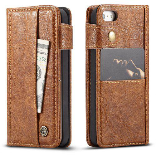 uk availability 5923d c77b3 CaseMe Cracked Effect Premium Leather Pouch Case with Kickstand Card Slots  for iPhone 5 / 5s / SE