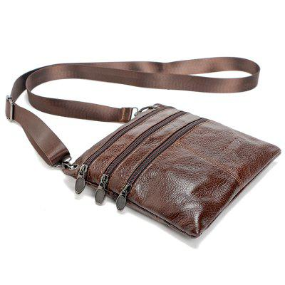 Brand 100% Genuine leather men bag Fashion men small shoulder crossbody bags Thin design Casual messenger bags