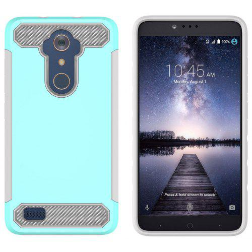 Shockproof Hard PC Flexible TPU Laminated Carbon Fiber Chrome Anti-scratch  Protective Case for ZTE Z983 / N9560 / Z981