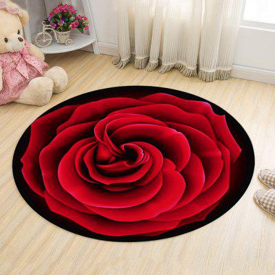 Round Floor Mat Brightcolored Cartoon Fruit Pattern Home Decorative Mat
