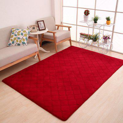 Floor Mat Thicken Coral Fleece Comfy Soft Geometric Pattern Home Mat2