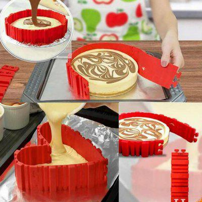 4 Pcs/set DIY Silicone Cake Mold Square Flower Heart Round Cake  Baking Moulds