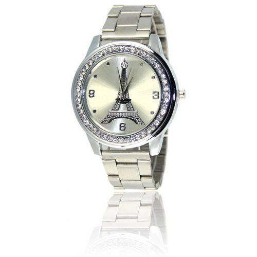 New Ladies Watch Fashion Personalized Steel Tower Diamond Watch