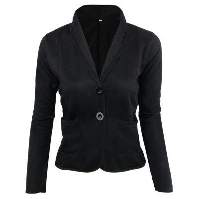 Women's Blazer Solid Color Button Slim Blazer