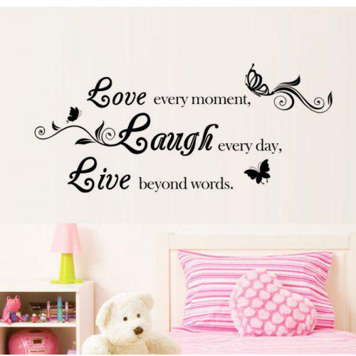 DSU Live Laugh Love Quotes Wall Decals Home Decorations Adesivo De Impressive Love Quotes Wall Decals