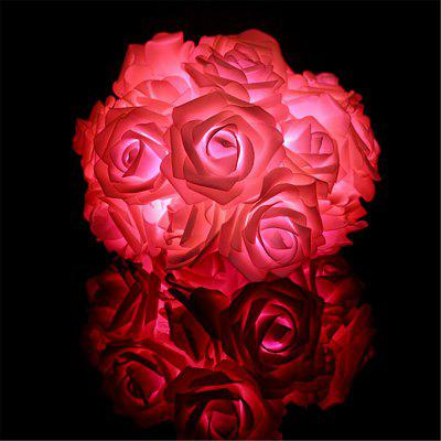 BRELONG LED Rose Luces de hilo Fiestas navideñas luces de decoración navideña 20LED