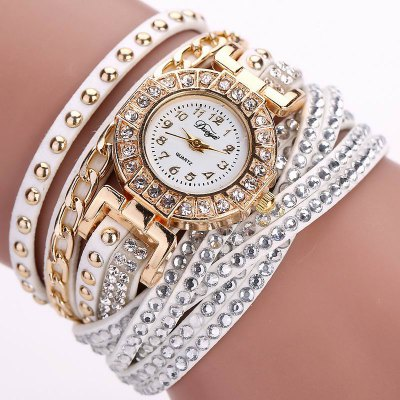 DUOYA D061 Women Girls Wrap Bracelet Wrist Watch
