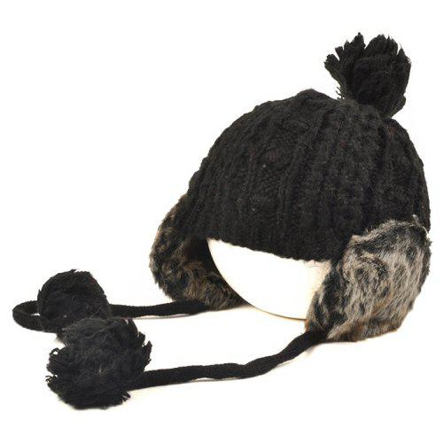2ae1c0936d9a3 Fashion Designer Beanies Winter Hat with Ears Warm Beanie Girl Hats with  Top Ball