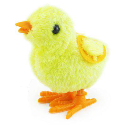 Baby Lovely Cartoon Chick Wind Up Clockwork Simulated Plush Doll Jumping Chicken Walking Toys