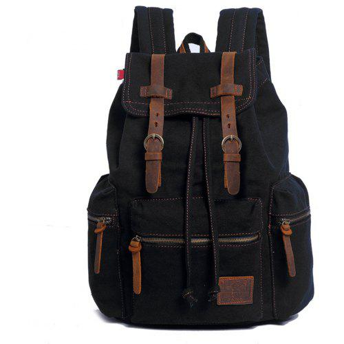 cacac31cc8e Fashion Men Vintage Canvas Backpack Girls School Bag Women Travel Large  Capacity Backpacks -  48.62 Free Shipping GearBest.com