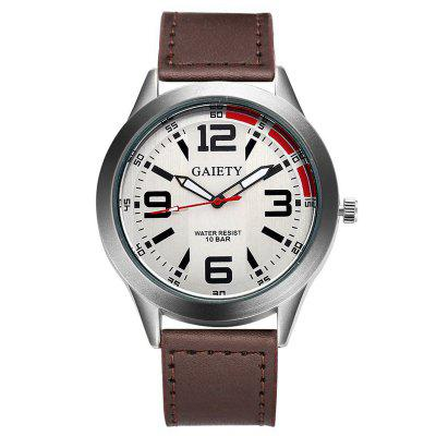 GAIETY G119 Fashion Watches Men Luxury Leather Strap