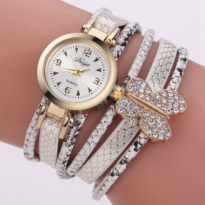 Fashion Women Watches Luxury Gold Dress Quartz Cartoon Wrist Watch