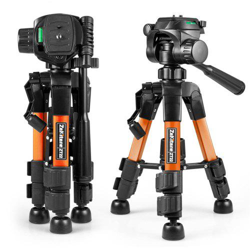 zakitane ZT22 Tripod Tabletop Desktop with Pan Head Panoramic Quick Release Plate Carrying Bag for DSLR