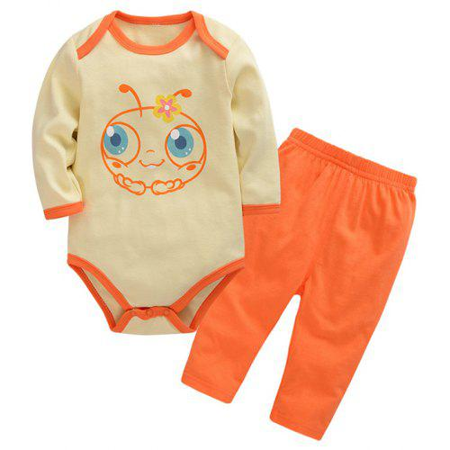 c8eb8305ba807 Wuawua Baby Clothing Cotton Two-piece Triangle Romper Outfits Clothes