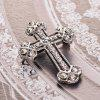 Vintage Crystal cross Brooches Pins for Man Fashion Jewelry Best Gift - SILVER