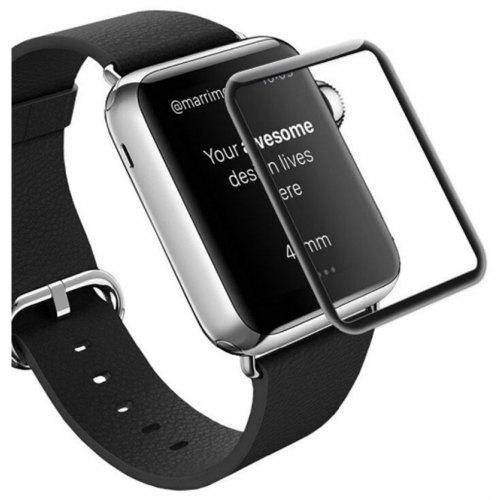 sale retailer b03d7 e35ad 3D Curved Edge Tempered Glass Full Cover Screen Protector Film For Apple  Watch 38mm