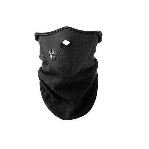 Gearbest Unisex Windproof DustProof Half Face Mask for Winter Motorcycle Cycling Hiking Skateboard Skiing Fishing Hiking Hunting - BLACK
