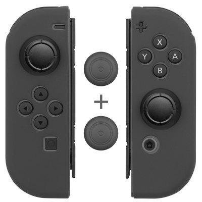 Anti-Slip Silicone Joy Con Gel Guards Skin Cover  with Thumb Stick Caps for Nintendo Switch Joy Con Controller