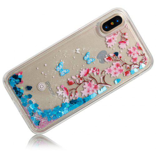 Flowers Dynamic Liquid Glitter Sand Quicksand Soft TPU Case for iPhone X -   3.37 Free Shipping 9541edc92
