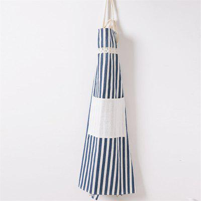 Stripe Pattern Cotton Apron