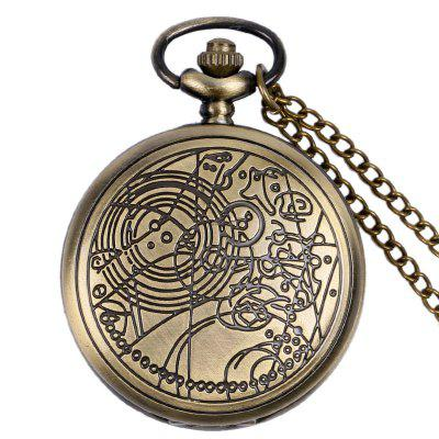 REEBONZ Vintage Doctors Hollow Quartz Pocket Watch Naszyjnik wisiorek