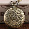 REEBONZ Vintage Doctors Hollow Quartz Pocket Watch Necklace Pendant - COPPER COLOR