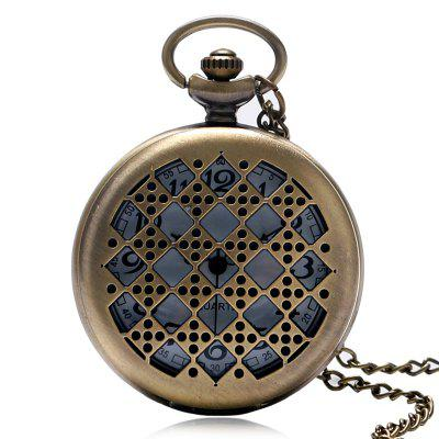 REEBONZ Vintage Sieve Hollow Pocket Pocket Watch Naszyjnik wisiorek