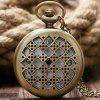 REEBONZ Vintage Sieve Hollow Pocket Pocket Watch Naszyjnik wisiorek - KOLOR MIEDZI