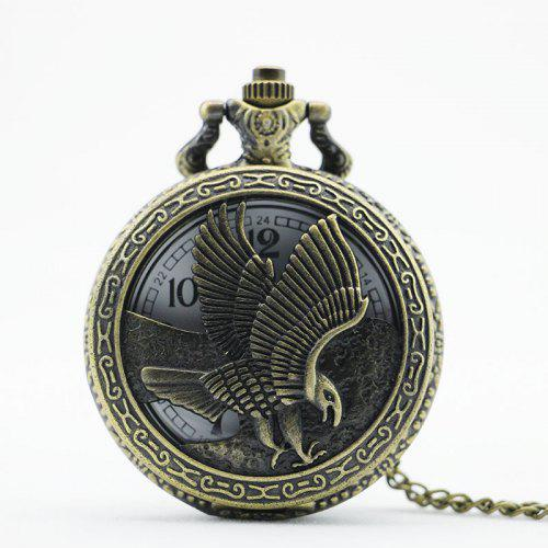 c58bfe76f3335e REEBONZ Steampunk Vintage Hollow Eagle Quartz Pocket Watch Necklace Pendant  -  4.48 Free Shipping