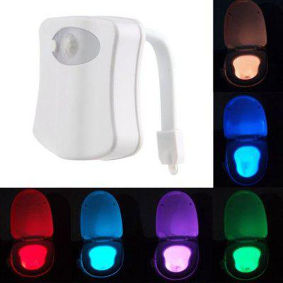 Kolorowe Motion Sensor Toaleta Nightlight Home Toliet Łazienka Human Body Auto Motion Activated Sensor Seat Light Night