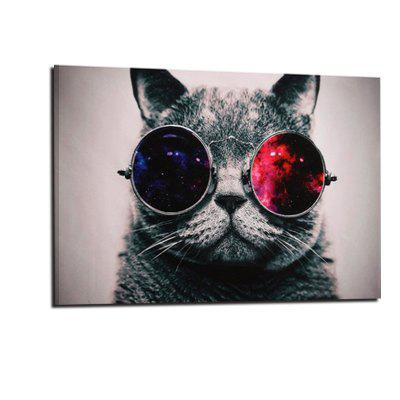 Creative Unframed Canvas Print  of Cat for Home Wall Decoration