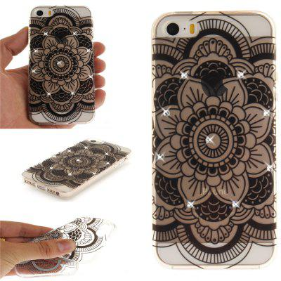 Black Sunflower Soft Clear IMD TPU Phone Casing Mobile Smartphone Cover Shell Case for iPhone 5/5S/SE for iphone 7 plus 5 5 inch tpu imd patterned gel cover almond tree in blossom