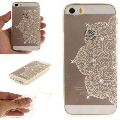 Half of White Flowers Soft Clear IMD TPU Phone Casing Mobile Smartphone Cover Shell Case for iPhone 5/5S/SE for iphone 7 plus 5 5 inch tpu imd patterned gel cover almond tree in blossom