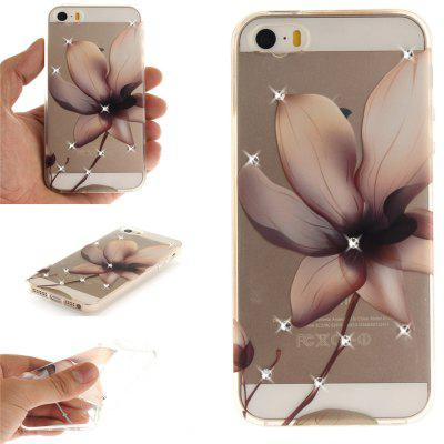 Magnolia Soft Clear IMD TPU Phone Casing Mobile Smartphone Cover Shell Case for iPhone 5/5S/SE for iphone 7 plus 5 5 inch tpu imd patterned gel cover almond tree in blossom