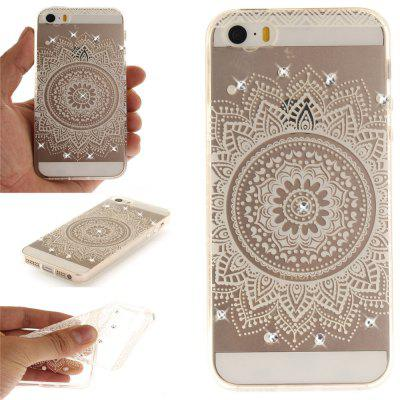 The White Mandala Soft Clear IMD TPU Phone Casing Mobile Smartphone Cover Shell Case for iPhone 5/5S/SE for iphone 7 plus 5 5 inch tpu imd patterned gel cover almond tree in blossom