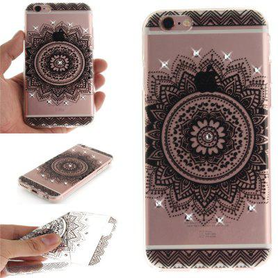 Black Datura Soft Clear IMD TPU Phone Casing Mobile Smartphone Cover Shell Case for iPhone 6/6S for iphone 7 smile painted soft clear tpu phone casing mobile smartphone cover shell case