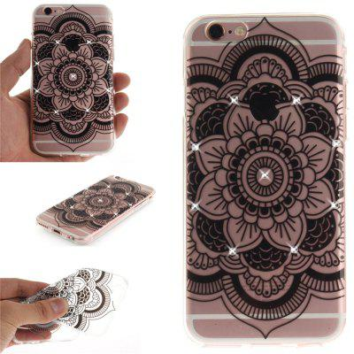 Black Sunflower Soft Clear IMD TPU Phone Casing Mobile Smartphone Cover Shell Case for iPhone 6/6S for iphone 7 smile painted soft clear tpu phone casing mobile smartphone cover shell case