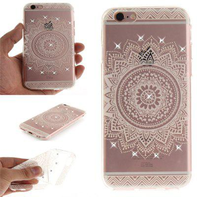 The White Mandala Soft Clear IMD TPU Phone Casing Mobile Smartphone Cover Shell Case for iPhone 6/6S kavaro swarovski rose gold plated pc hard case for iphone 6s 6 mandala pattern
