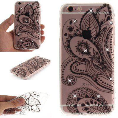 Peacock Flower Soft Clear IMD TPU Phone Casing Mobile Smartphone Cover Shell Case for iPhone 6 Plus/6S Plus soft imd tpu case cover for iphone 7 plus rose dream catcher