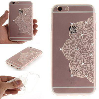 Half of White Flowers Soft Clear IMD TPU Phone Casing Mobile Smartphone Cover Shell Case for iPhone 6 Plus/6S Plus brushed tpu pc hybrid kickstand phone cover for iphone 6s plus 6 plus red