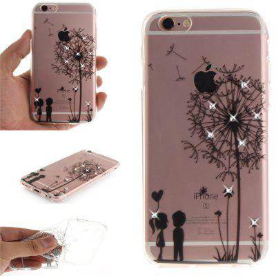 Dandelion Soft Clear IMD TPU Phone Casing Mobile Smartphone Cover Shell Case for iPhone 6 Plus/6S Plus brushed tpu pc hybrid kickstand phone cover for iphone 6s plus 6 plus red